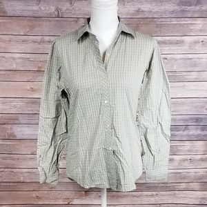 J. Crew Purple and Green Pattern Button Down Shirt
